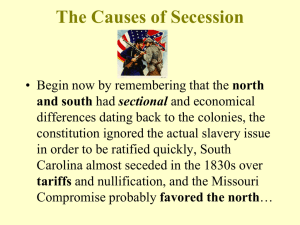 The Causes of Secession