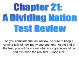 Chapter 21 test review samples
