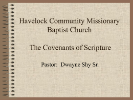 Covenants of Scripture