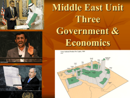 Middle Eastern Political and Economic Systems