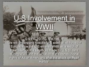 US Involvement - from Isolation to Attack on Pearl Harbor