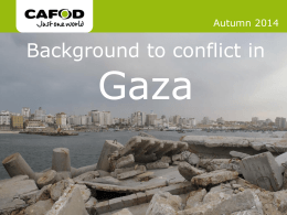 Background to Gaza conflict