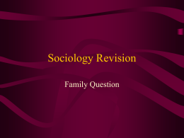 Sociology Revision2