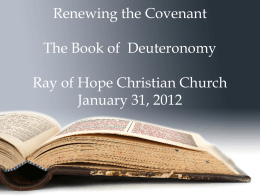 Renew the Covenant