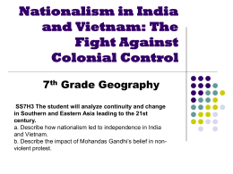 Nationalism in India and Vietnam: The Fight Against Colonial Control