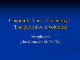 Chapter 5: The 17th century (The period of revolution)