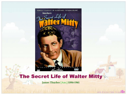 is walter mitty a round or flat character
