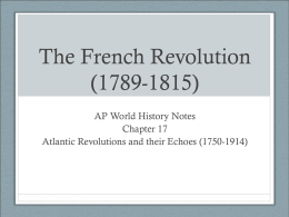 The French Revolution (1789-1815)