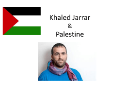 Khaled Jarrar and Palestine