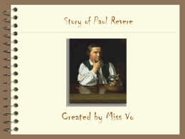 Paul Revere`s Ride - Etiwanda E