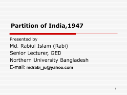 Partition of India,1947