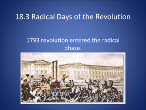 18.3 Radical Days of the Revolution