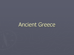Chapter 4 – Civilization of the Greeks