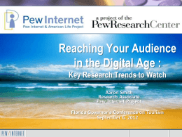 "The Social Media ""Revolution"" - Pew Internet & American Life Project"