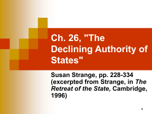 "Ch. 26, ""The Declining Authority of States"""