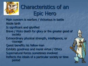 Characteristics of a Traditional Hero