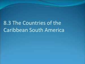 8.1 Physical Geography – Caribbean South America