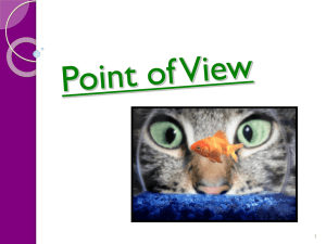 Point of View Student Power point