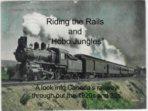 "Riding the Rails and ""Hobo Jungles"""