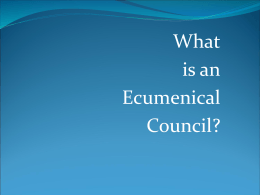What is an Ecumenical Council? - Blessed John XXIII Parish Website