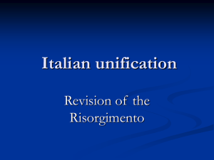 Italian unification revision
