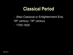 History & Appreciation of the Arts - PPT over Neo