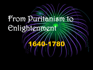 From Puritanism to Enlightenment
