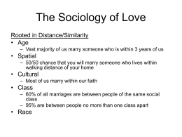 The Sociology of Love