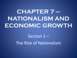 CHAPTER 7 – NATIONALISM AND ECONOMIC GROWTH