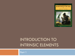 Introduction to Intrinsic element