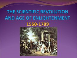 (The Scientific Revolution and Enlightenment)