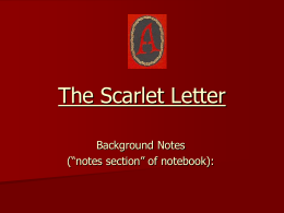 The Scarlet Letter Background