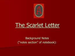 Scarlet letter question?