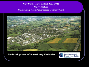 Peace building and Conflict Resolution Centre at Maze / Long Kesh