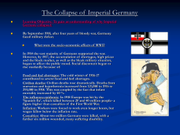 The Collapse of Imperial Germany