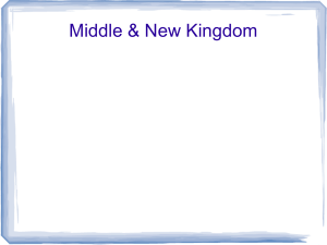 Middle & New Kingdom Main Idea Middle kingdom was period of