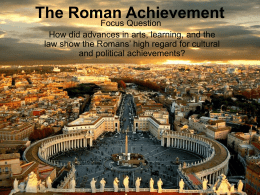 The Roman Achievement - PBworks