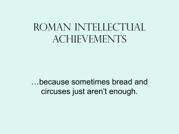 roman intellectual history