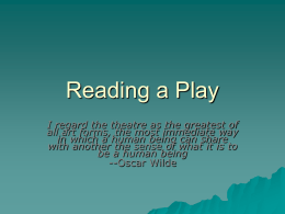 Reading a Play