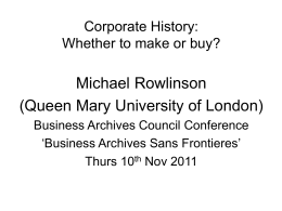 Corporate history - Business Archives Council
