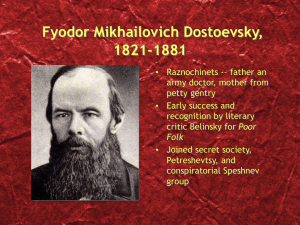 The Underground Man`s Refutations: Chernyshevsky The