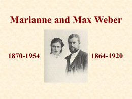 Max and Marianne Weber