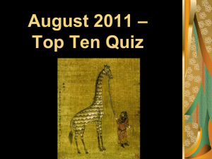 PowerPoint August 2011 Top Ten Quiz