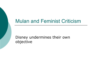 Mulan and Feminist Criticism