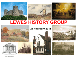 LEWES HISTORY GROUP October 2009