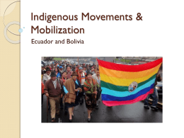 Indigenous Movements in Bolivia and Ecuador