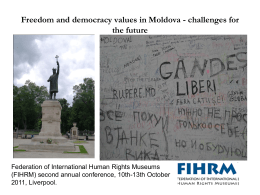 Freedom and democracy values in Moldova