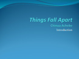 Things Fall Apart Chinua Achebe