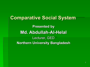 Comparative Social System _contd. Development of