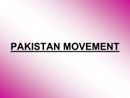 Pakistan Movement - Lectures For UG-5